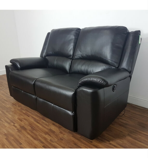 Chelsea leather air 2 seater electric recliner sofa for Chelsea leather sofa