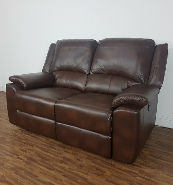 Chelsea 2 Seater Recliner Sofa - Brown