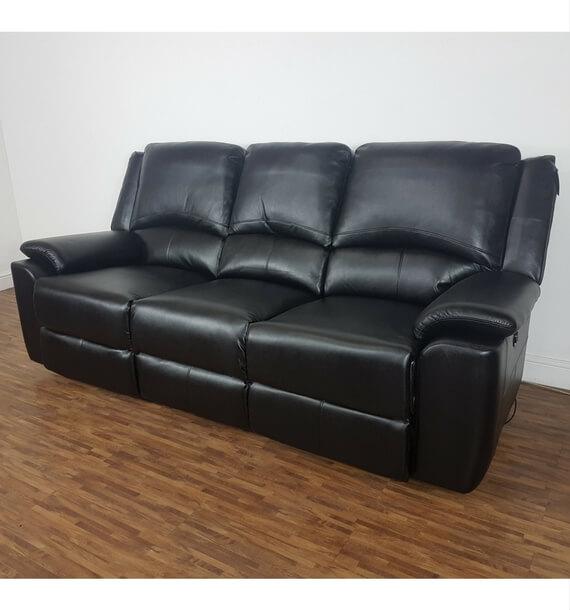Chelsea 3 Seater Recliner Sofa - Black