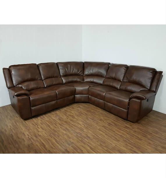 Chelsea Recliner Corner Sofa - Brown