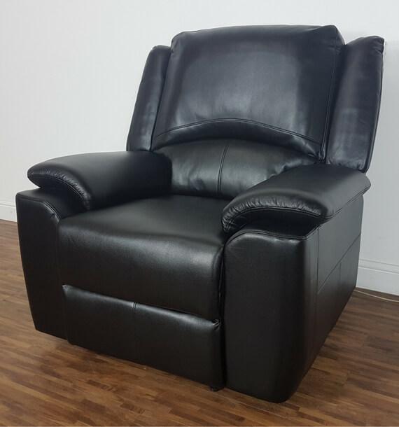 Chelsea Reclining Armchair - Black