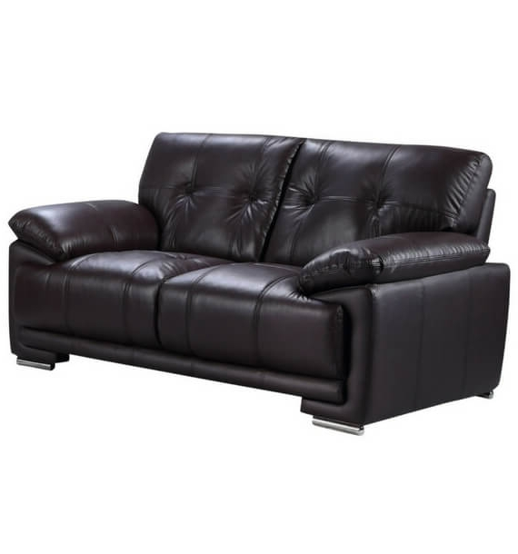 Brooklyn Leather Air 2 Seater Sofa - Dark Brown