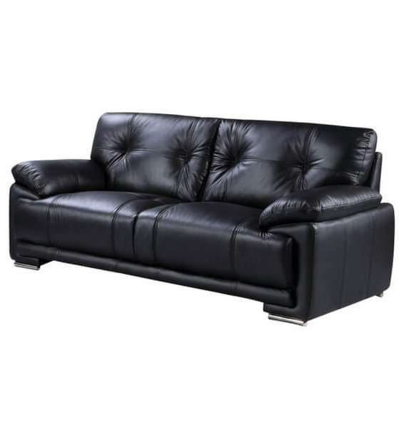 Brooklyn Leather Air 3 Seater Sofa - Black