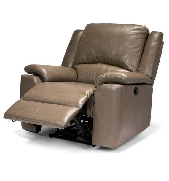 Chelsea Leather Air Electric Reclining Armchair - Stone