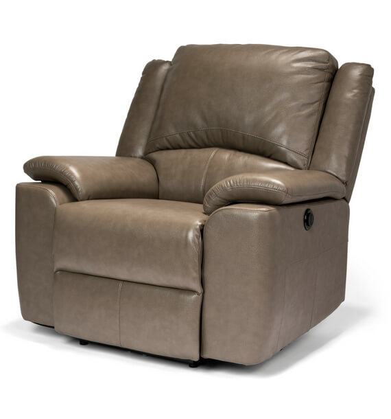 Chelsea Stone Reclining Armchair side view