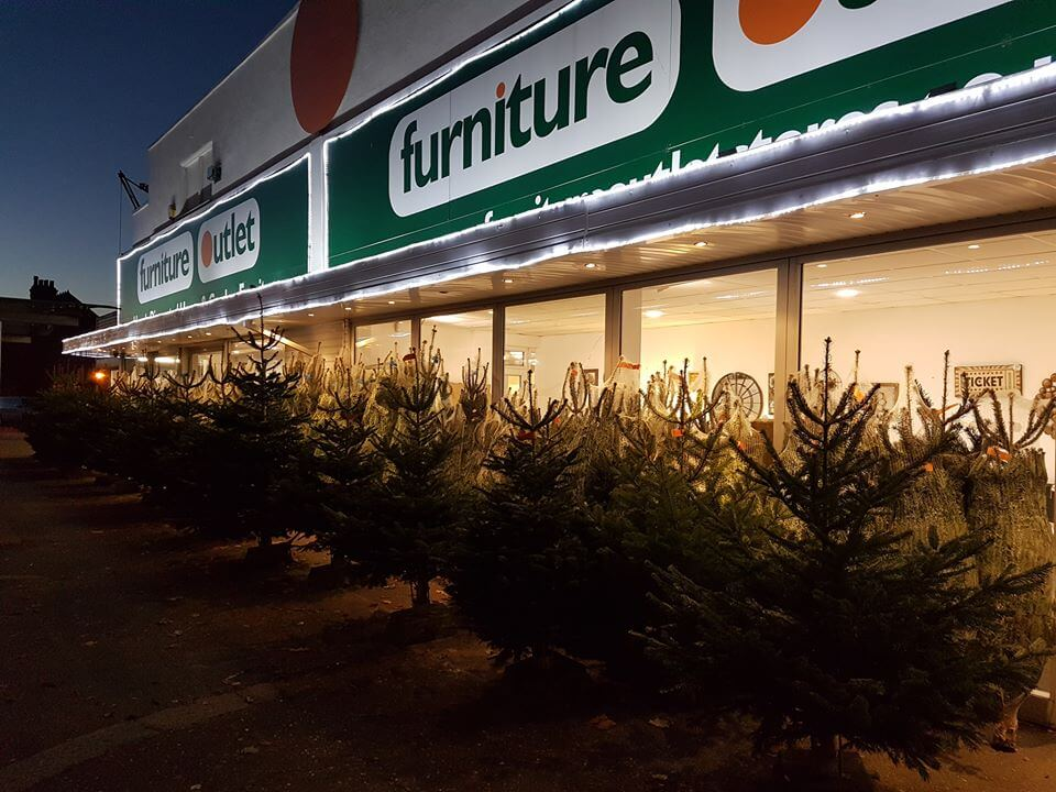 Real Xmas Trees for sale at Furniture Outlet Stores