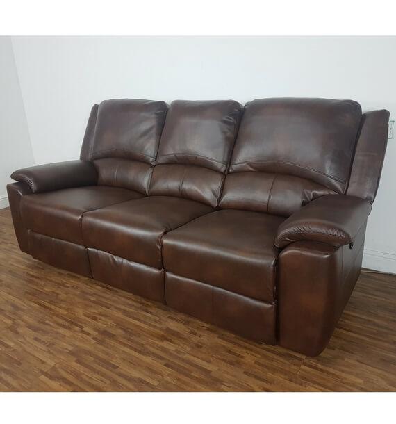 Chelsea 3 Seater Recliner Sofa - Brown