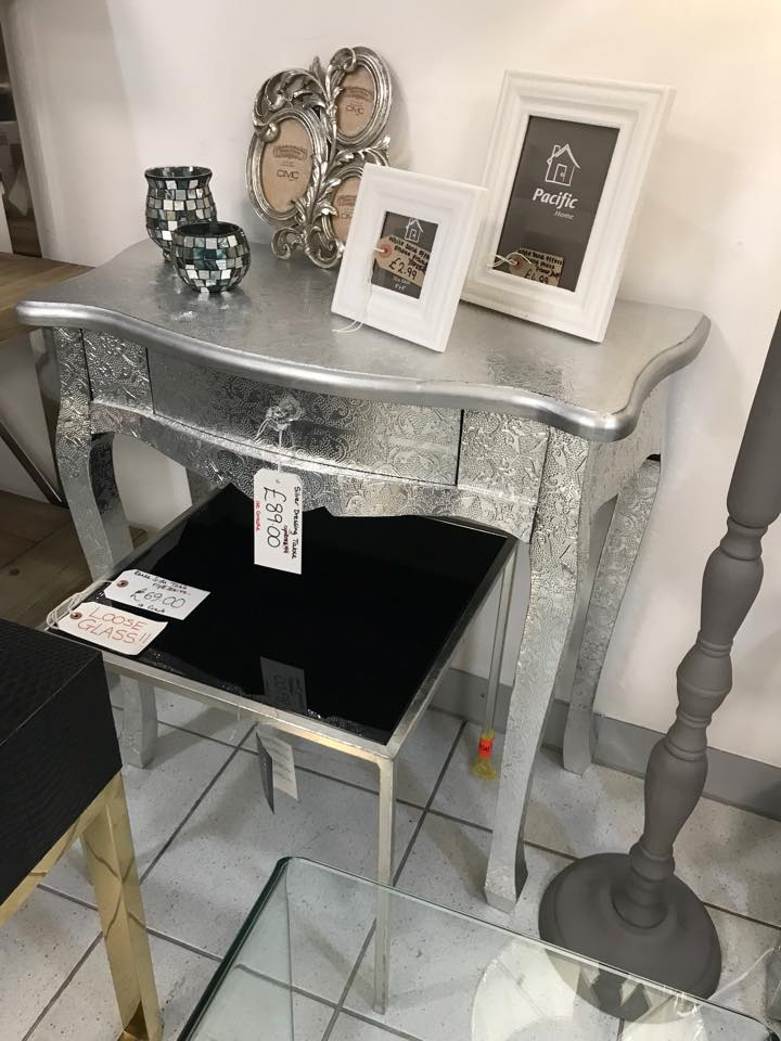 Silver 1 Drawer Console Table