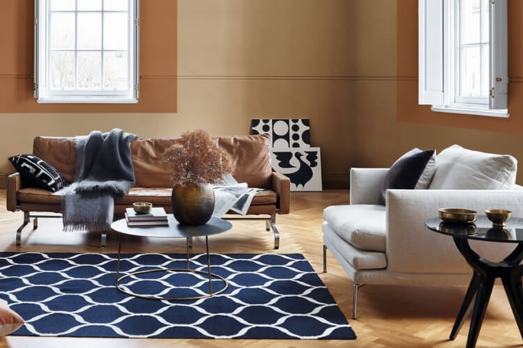 Living Room Colour Uk spiced honey is dulux colour of the year 2019 - furniture outlet