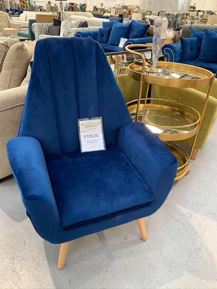 Dark Blue Armchair