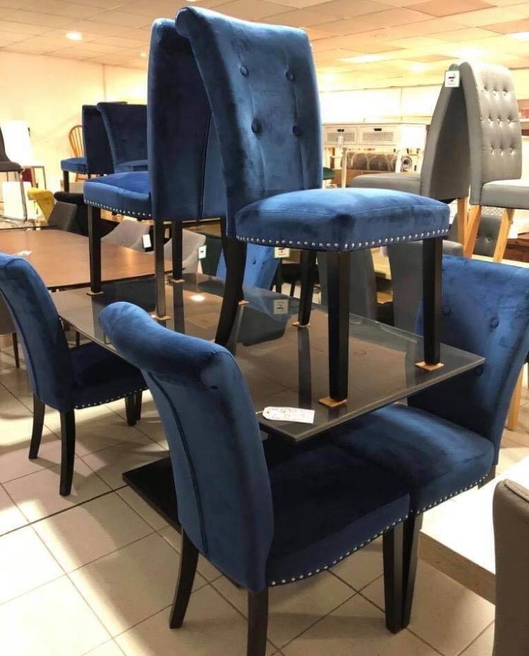 Dark Blue Dining Chairs