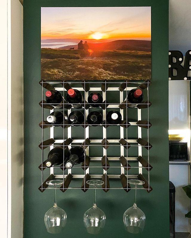 Kitchen Wine Rack inspo by thecatriorhome