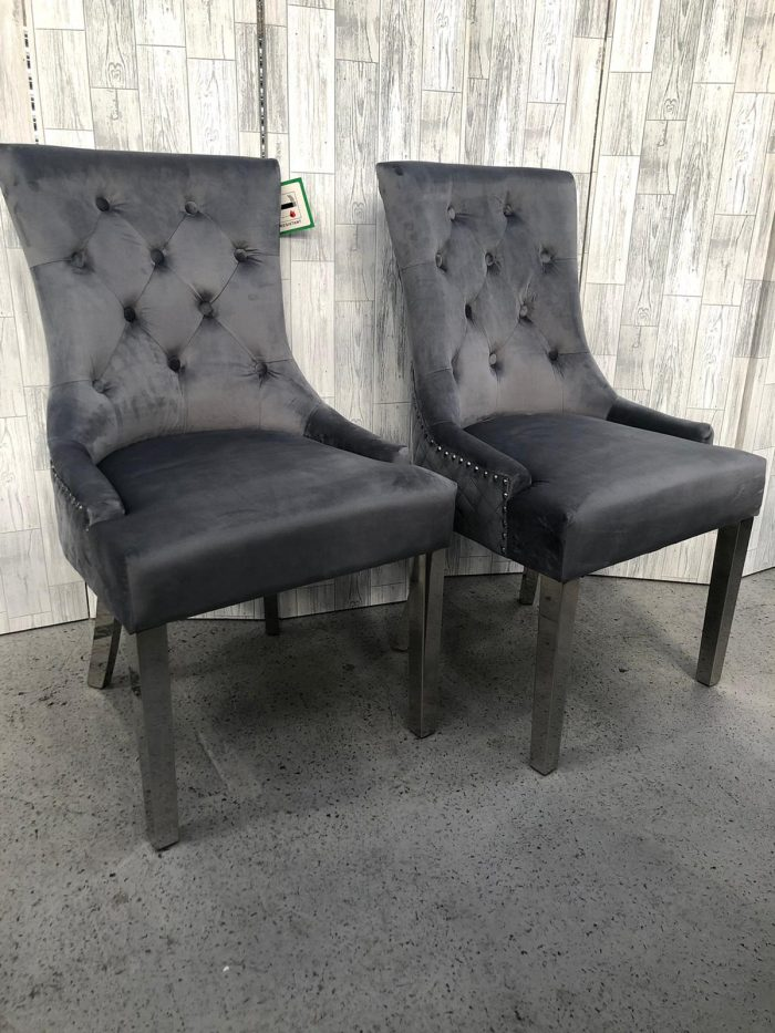 Pair of Coco Dining Chairs - Front View