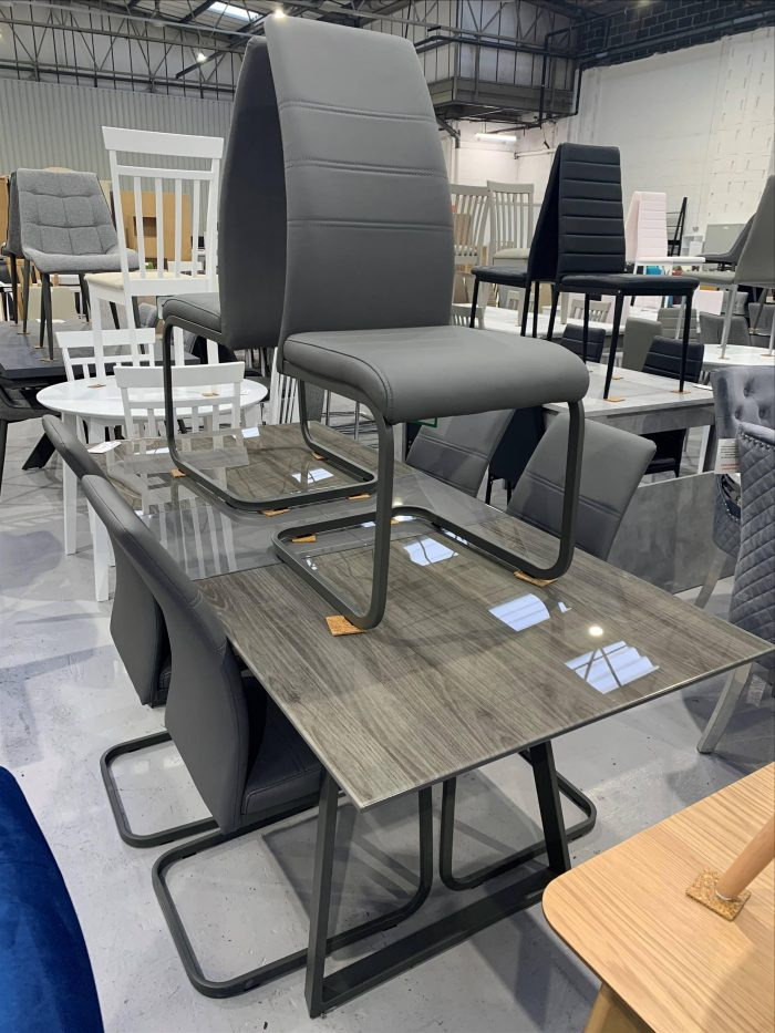 Milan Dining Table & 6 Milan Dining Chairs